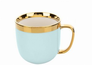 Kubek porcelanowy Gold Ring 530ml niebieski
